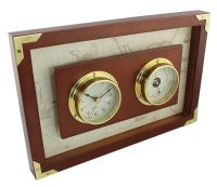 Clock&Barometer in wood frame
