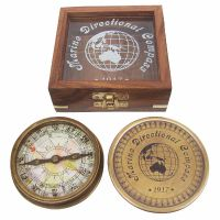 Compass with map dial