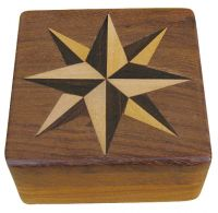 Compass in wood