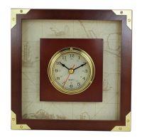 Clock in wood frame