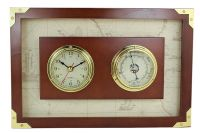 Uhr&Barometer im Holzrahmen