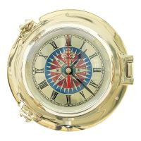Clock with compass