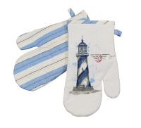 Oven mitten - Lighthouse