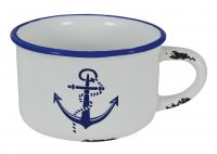 Pot with handle with anchor design