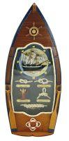 Keybox in boat-shape