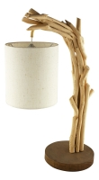 Drift-wood lamp with shade