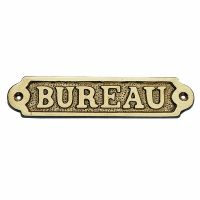 Door name plate - BUREAU