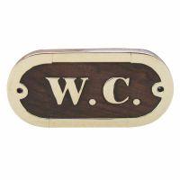 Door name plate - W.C.