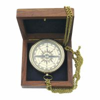 Compass with anchor engraved