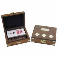 Tarot-Kartenspiel & Würfel in der Holzbox
