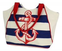 Shopping-bag with anchor print